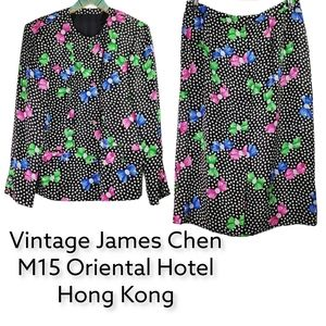 Vtg James Chen Mandarin Oriental Hotel 2 Pc Set